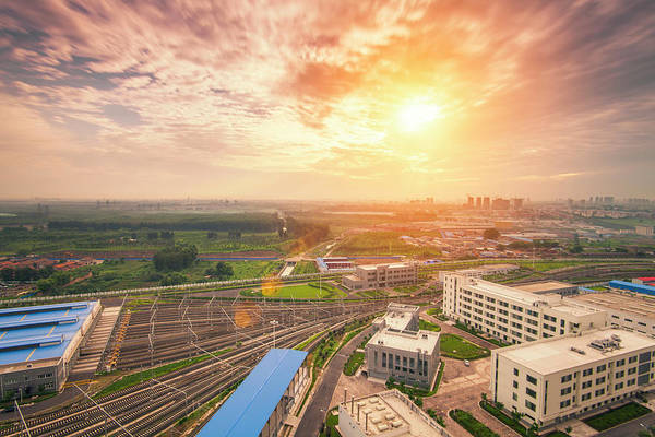 Public Land Photograph - Beijing Morning by Czqs2000 / Sts