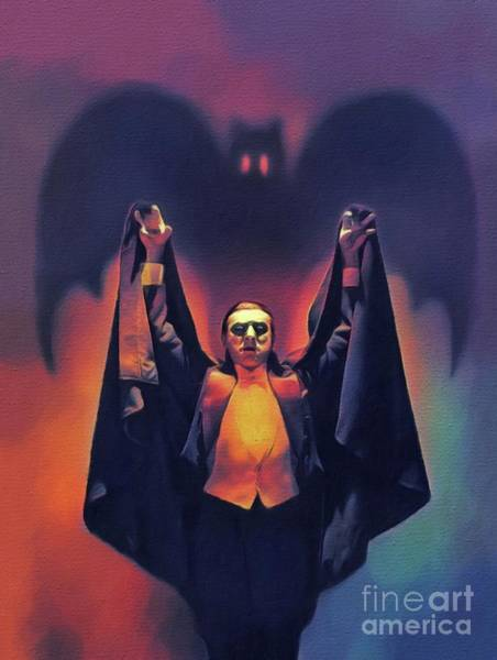 Wall Art - Painting - Bela Lugosi As Dracula by John Springfield