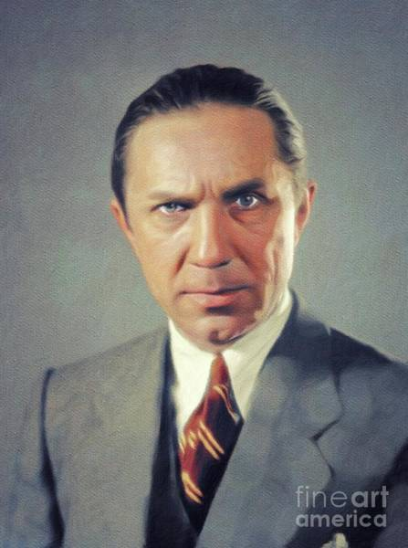 Wall Art - Painting - Bela Lugosi, Vintage Actor by John Springfield