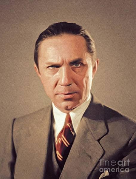 Wall Art - Painting - Bela Lugosi, Vintage Hollywood Actor by John Springfield