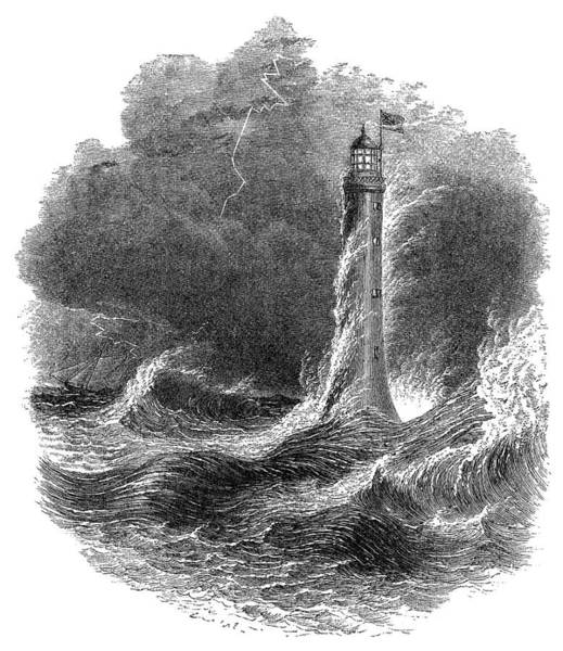 Painting - Bell Rock Lighthouse by Granger