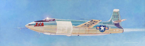 Wall Art - Painting - Bell X-1a by Douglas Castleman