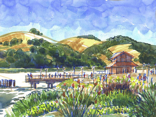 Painting - Benicia Point Pier by Judith Kunzle