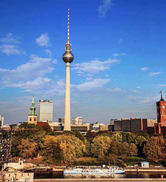 Berlin, Germany Fernsehturm Tv Tower Art Print by Miva Stock