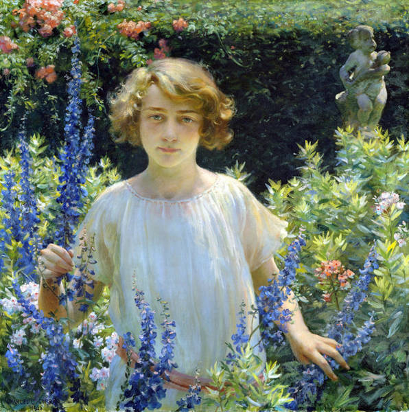 Wall Art - Painting - Betty Gallowhur by Charles Courtney Curran