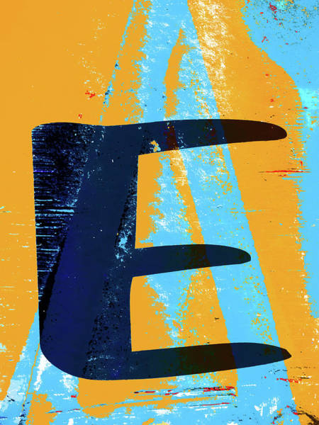 Wall Art - Photograph - Big Letter E  by Carol Leigh
