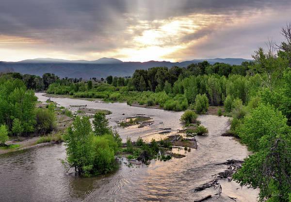 Photograph - Big Wood River by Leland D Howard