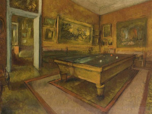 Wall Art - Painting - Billiard Room At Menil-hubert, 1892 by Edgar Degas