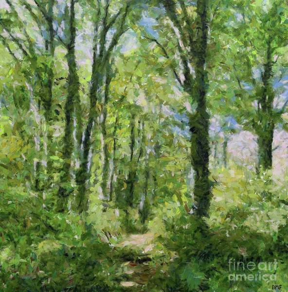Wall Art - Painting - Birch Forest by Dragica Micki Fortuna