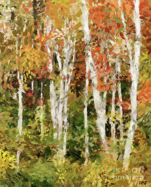 Wall Art - Painting - Birches In Autumn by Dragica Micki Fortuna