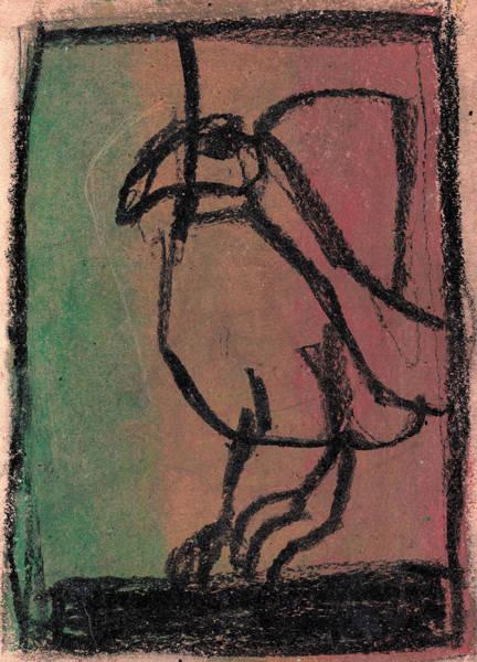 Drawing - Bird by Artist Dot