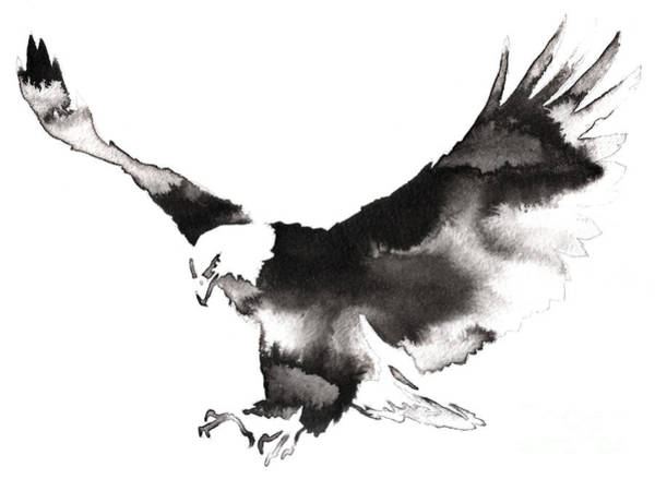 Zoology Wall Art - Digital Art - Black And White Monochrome Painting by Evgeny Turaev
