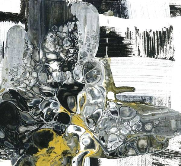 Painting - Black White And Gold Detail 3 by Angelika GAIGL