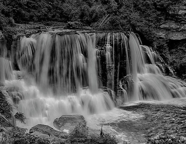 Photograph - Blackwater Falls Mono 1309 by Donald Brown