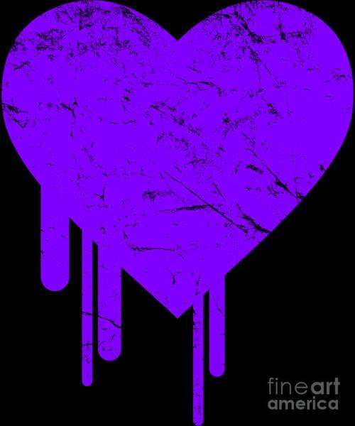 Digital Art - Bleeding Purple Heart by Flippin Sweet Gear