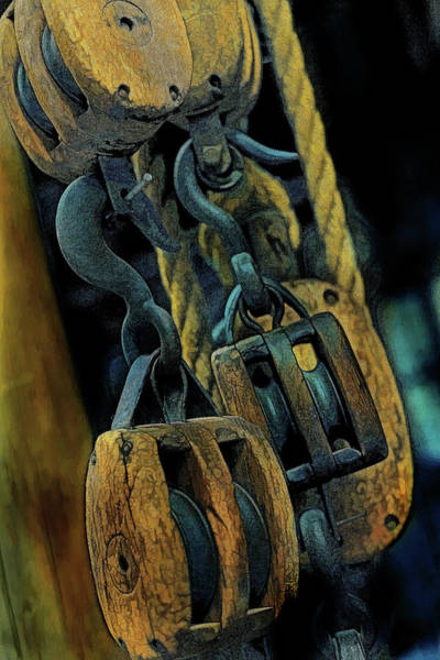 Wall Art - Photograph - Block And Tackle by Mike Flynn