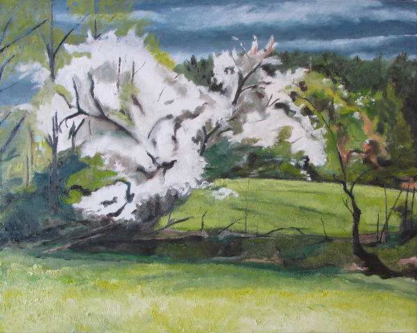 Wall Art - Painting - Blooming In The Wind by Francois Fournier