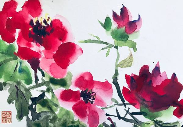 Wall Art - Painting - Blossoming  by Lavender Liu