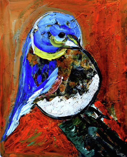 Wall Art - Painting - Blue Bird by Anand Swaroop Manchiraju