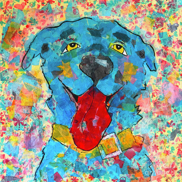 Wall Art - Painting - Blue Dog by Robin Wiesneth
