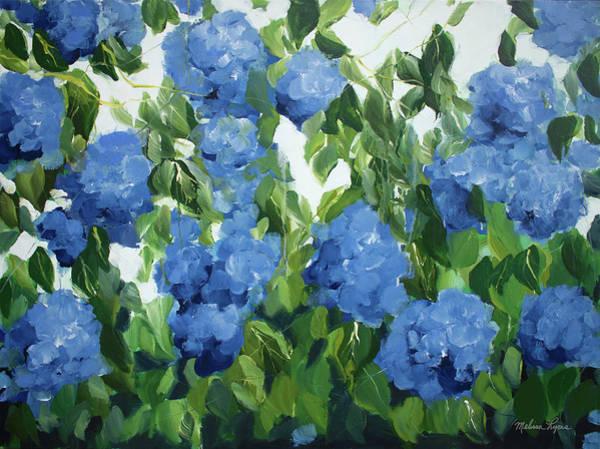Wall Art - Painting - Blue Hydrangeas by Melissa Lyons