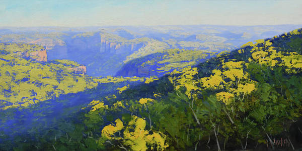 Three Sisters Wall Art - Painting - Blue Mountains Australia by Graham Gercken