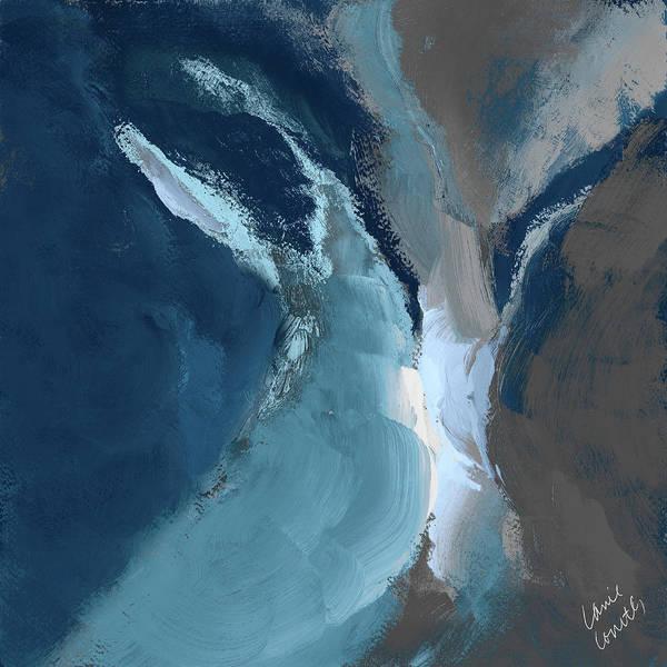 Wall Art - Painting - Blue Ocean Dance I by Lanie Loreth