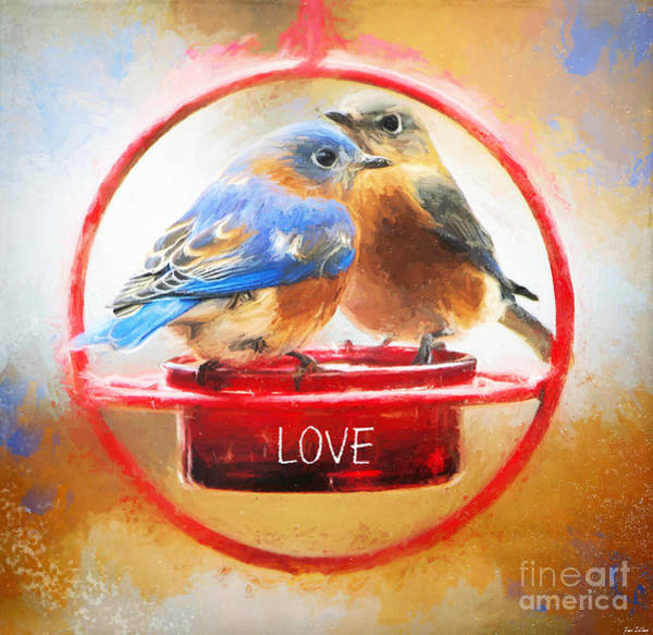 Note Book Painting - Bluebird Love by Tina LeCour