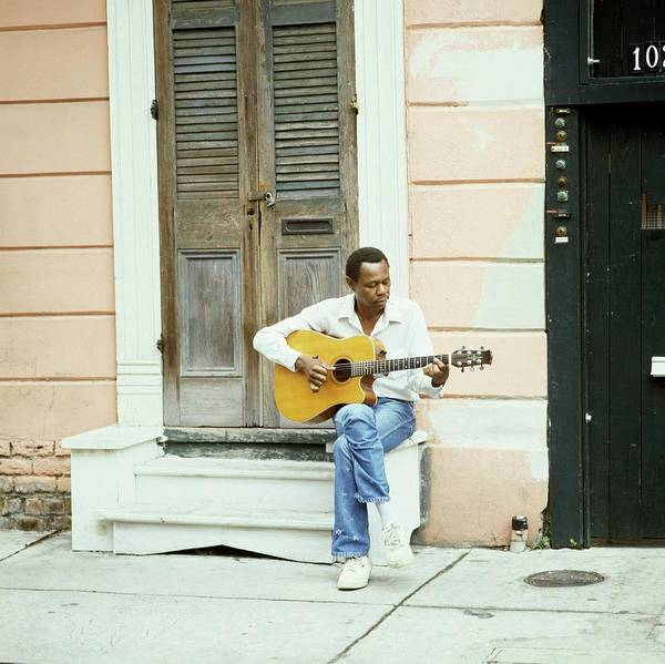 Acoustic Guitar Photograph - Blues Guitarist by David Redfern