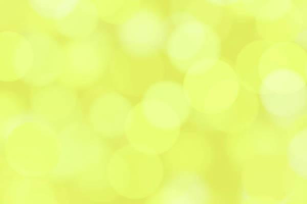 Yellow Photograph - Blurred Sparkles by Emrah Turudu