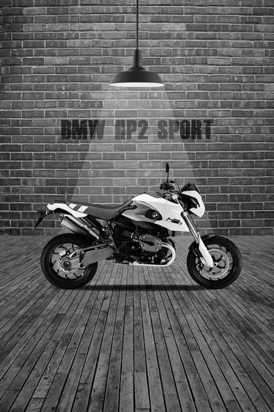 Wall Art - Mixed Media - Bmw Hp2 Sport Red Wall by Smart Aviation