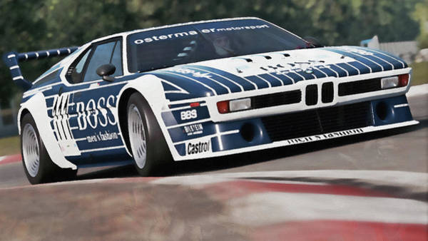 Painting - Bmw M1 - 21 by Andrea Mazzocchetti