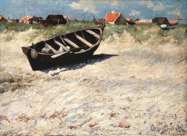 Painting - Boat At Skagen's South Beach by Oscar Bjorck