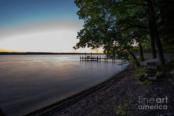 Photograph - Boat Dock Sunset On Seneca Lake by Michael D Miller