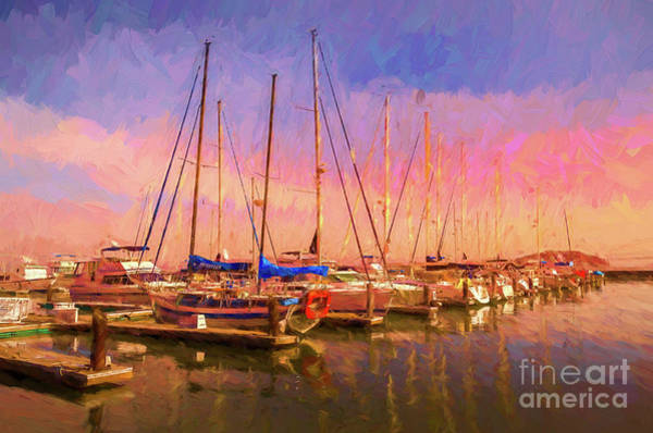 Chester Mixed Media - Boats by Pravine Chester