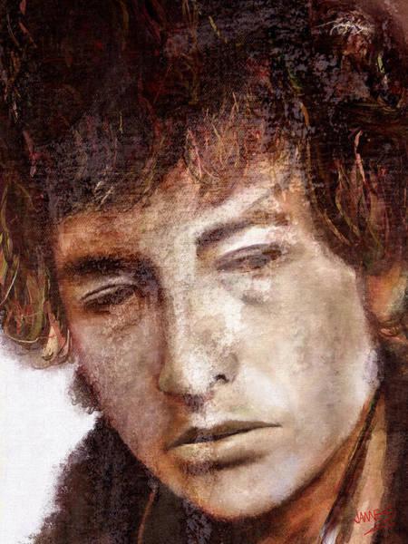 Bob Dylan Digital Art - Bob Dylan Artwork by James Shepherd