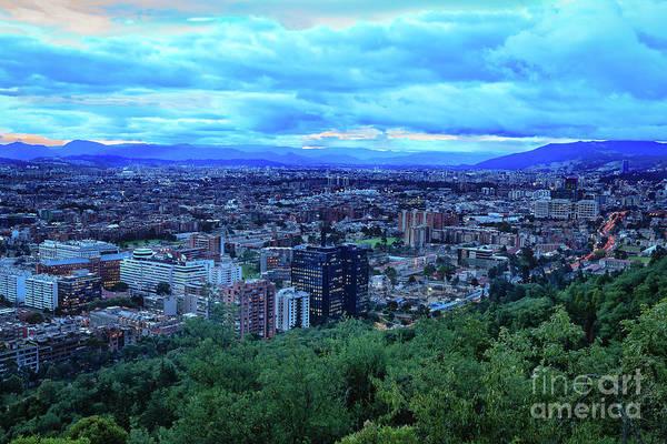 Wall Art - Photograph - Bogota, Colombia - Twilight View Of Usaquen From La Calera by Devasahayam Chandra Dhas
