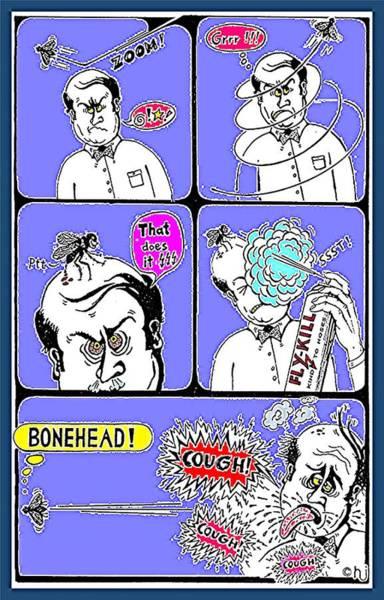 Drawing - Bonehead by Hartmut Jager