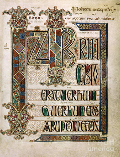 Wall Art - Painting - Book Of Lindisfarne by Granger