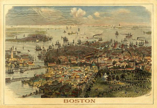Photograph - Boston 1850 by Andrew Fare