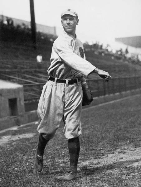 Fielder Photograph - Boston Braves Fred Snodgrass by Underwood Archives
