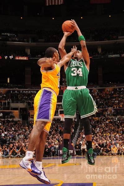 Photograph - Boston Celtics V Los Angeles Lakers by Noah Graham