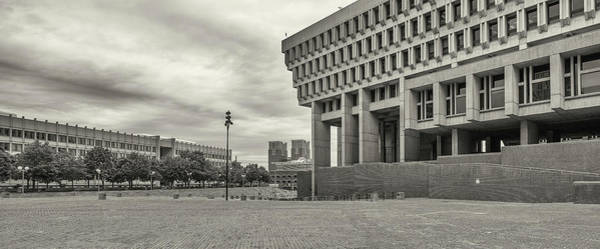 Wall Art - Photograph - Boston City Hall, Government Plaza by Panoramic Images