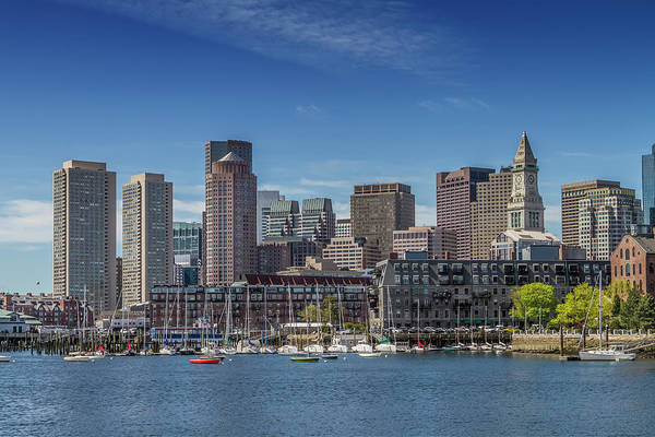 Wall Art - Photograph - Boston Skyline North End And Financial District  by Melanie Viola