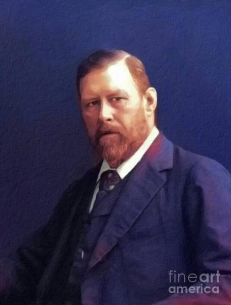 Wall Art - Painting - Bram Stoker, Literary Legend by John Springfield