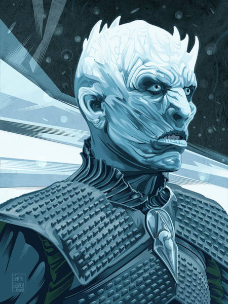 Wall Art - Digital Art - Bran Game Of Thrones White Walker by Garth Glazier