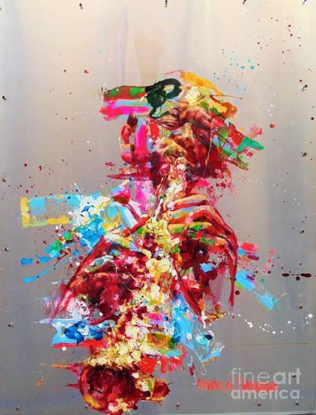 Wall Art - Painting - Brandford Marsalis by Massimo Chioccia and Olga Tsarkova