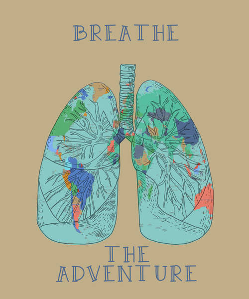 Lung Digital Art - Breathe The Adventure by Bekim Art