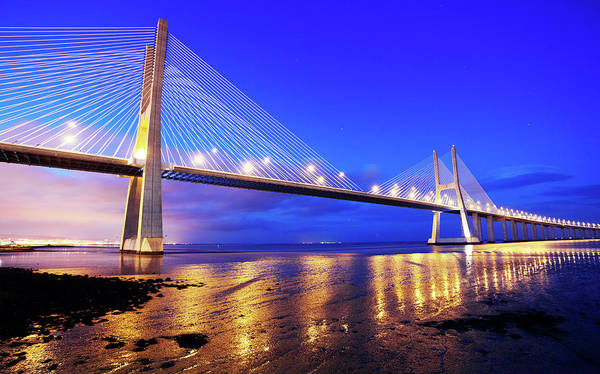 Vasco Da Gama Bridge Wall Art - Photograph - Bridge by Allan Baxter