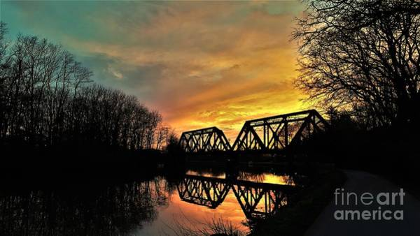 Wall Art - Photograph - Bridge At Sunset by Suzanne Wilkinson